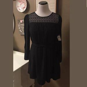 8508acb3e7 GAP Dresses - Gap Women s Black Crochet Panel Tie Belt Dress